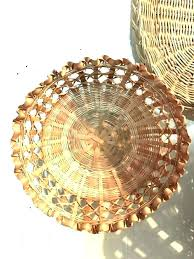 wicker wall decor rattan dining room modern decoration with marvellous round