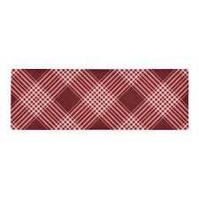 red white plaid area rug