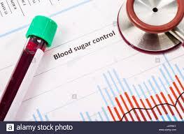 Sample Blood For Screening Diabetic Test In Blood Tube On