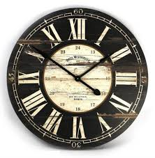grey kitchen wall clock big brown black and white pertaining to large clocks