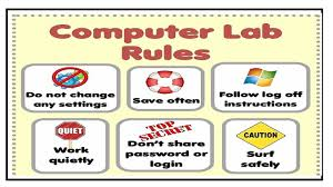 Computer Bulletin Boards Computer Lab Rules Computer Lab