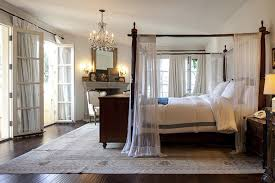 Romantic master bedroom with canopy bed Elegant Lonny Canopy Bed Photos 8 Of 29