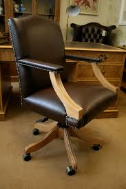 traditional leather office chairs. A Gainsborough Swivel Desk Chair. Plain Brown Leather Upholstery. Www.thedeskcentre.co Traditional Office Chairs N