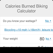 Calories Burned Biking Calculator Omni