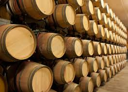 stacked oak barrels maturing red wine. Download Stack Of Oak Wine Barrels Stock Photo. Image Pinot - 15219420 Stacked Maturing Red