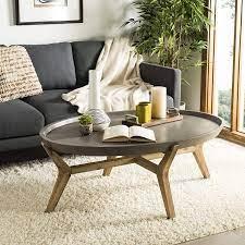 Concrete top coffee table concrete + driftwood rectangle coffee table. Amazon Com Safavieh Vnn1021a Collection Hadwin Dark Grey Indoor Outdoor Modern Concrete Oval 31 5 Coffee Table Garden Outdoor