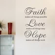 Love And Faith Quotes Home Decoration Wall Stickers TV Wall Background Wallpaper Faith 93
