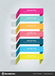 Design Schedule Template Table Schedule Design Template With 7 Row Stock Vector