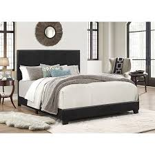 Crown Mark Erin Faux Leather Bed, Black, Multiple Sizes - Walmart.com
