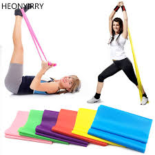 1 2m elastic yoga pilates rubber stretch exercise band arm back leg fitness all thickness 0 35