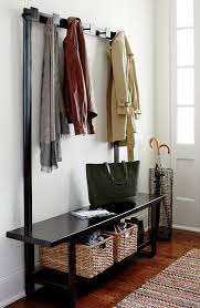 Bronze Coat Rack Crate Barrel Welkom Hall Tree Bench With Coat Rack Modern Entry Chicago 9