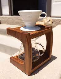 The design is made to accommodate all size dripper and dripper is not included. Walnut Coffee Pour Over Stand The Wood Whisperer