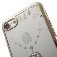 kavaro swarovski diamond electroplating plastic case for iphone 8 7 goldfish pendant necklace