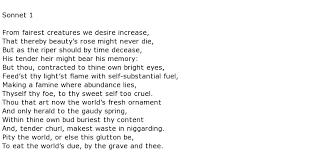 william shakespeare poems my poetic side