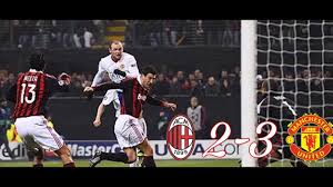 Milan vs Manchester United 2-3 All Goals And Highlights - UCL 2009/2010 -  YouTube