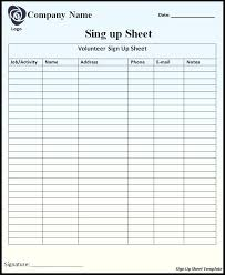 Signing In Book Template