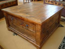 traditional square coffee table with storage
