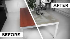 diy minimal concrete table top ikea