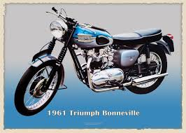 triumph bonneville 1961 metal sign duke video