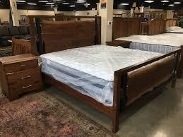 amish live edge bedroom iron