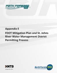Fdot District 1 Organizational Chart 2040 Lrtp Appendix E Fdot Mitigation Plan And Sjrwmd By