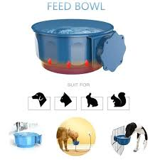 heated dog bowl pet safe suspension water dish outdoor feed cage \u2013 commonsensesecurity