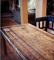 Kitchen Table Reclaimed Wood Reclaimed Wood Periodic Table Dining Table Features Reclaimed