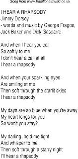 Rhapsody Charts Top Songs 1941 Music Charts Lyrics For I Hear A Rhapsody