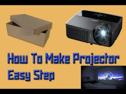 how to make smartphone projector easy step at home in 4 minutes diy