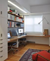 l shaped desk home office. New York L Shaped Desk Home Office Contemporary With Wall Mount Lamp