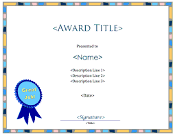 Great Job Blank Certificate Template