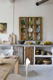 Creative Storage For Small Kitchens Diy Wooden Storage Hanging On The Wall For Small Rustic Kitchendiy
