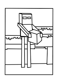 Small Picture Enderman Minecraft Coloring Pages Free Printable Minecraft