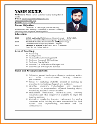 Resume Models For Teachers Indian Resume Format In Word File Free