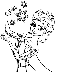 Small Picture Queen Elsa Coloring Pages Coloring Sky