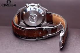 omega watch straps leather