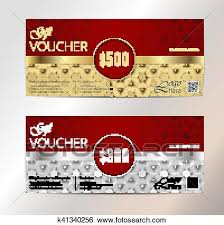 Clipart Coupon Template Clip Art Of Voucher Gift Certificate Coupon Template Floral