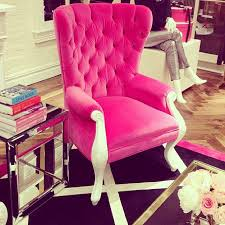 hot pink upholstered chair jeenistyle instagram