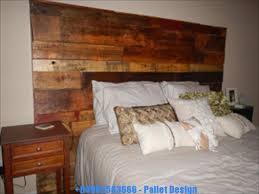 old pallet furniture. DIY Recycled Pallet Headboard Old Pallet Furniture