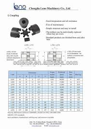 Spider Coupling Size Chart 17 Veracious Coupling Dimension Chart