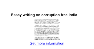 essay writing on corruption google docs