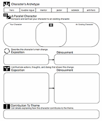 character archetypes and narrative writing archetypes worksheet