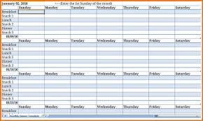 monthly meal planner template 11 monthly meal planner template job resumes word