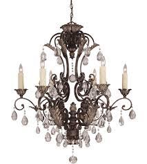 savoy house crystal res nefertiti 6 light chandelier in moroccan bronze 1 720 6
