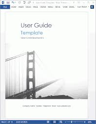 user manual template microsoft word user manual template business template