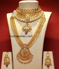 Gold Necklace And Haram Set Designs Gold Choker And Haram Set Gold Choker 1 Gram Gold