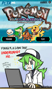 Pokémon Black and Blue / PETA Pokémon Parody: Image Gallery ... via Relatably.com