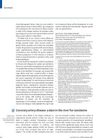 coronary artery disease a dam in the river for ranolazine the  first page of article coronary artery disease