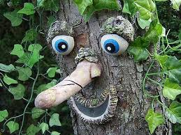 tree face garden decoration ornament statue sculpture great gift ideas