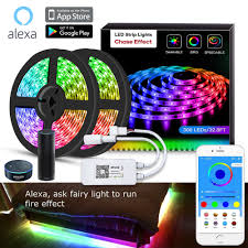Light Strips That Work With Alexa Sp501e Color Chasing Alexa Led Strip Light Kit 32 8ft 10m Flexible Waterproof Digital Addressable Rgb Led Rope Lights Working With Ios Android